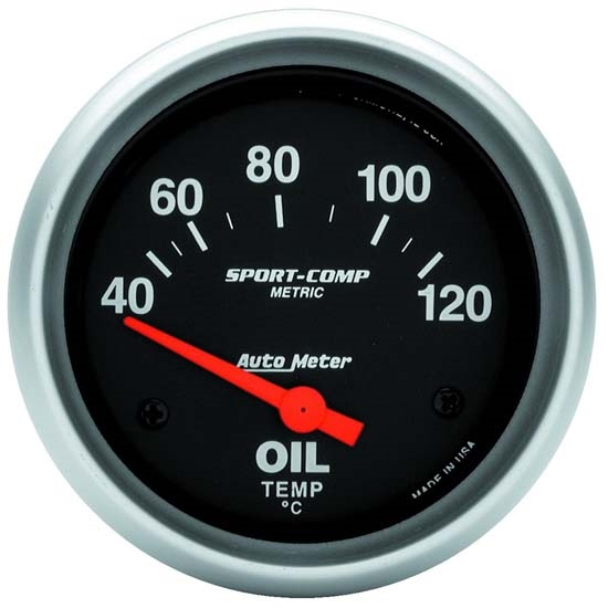Auto Meter 3542-M Sport-Comp Air-Core Oil Temperature Gauge