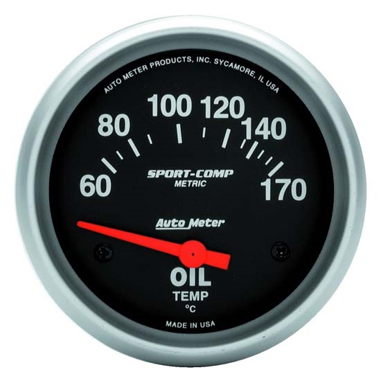 Auto Meter 3543-M Sport-Comp Air-Core Oil Temperature Gauge