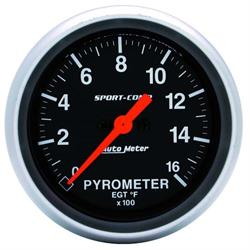 Auto Meter 3544 Sport-Comp Digital Stepper Motor Pyrometer Gauge