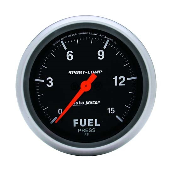 Auto Meter 3561 Sport-Comp Digital Stepper Motor Fuel Pressure Gauge