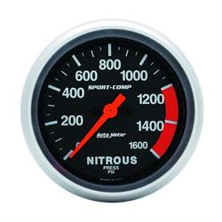 Auto Meter 3574 Sport-Comp Digital Stepper Motor Nitrous Press Gauge