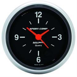 Auto Meter 3585 Sport-Comp Quartz Clock Gauge, 2-5/8 Inch