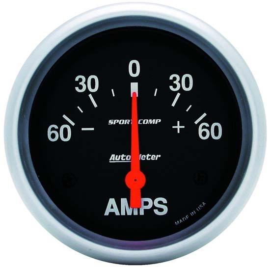 Auto Meter Ammeter : Auto meter sport comp air core ammeter gauge a