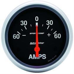 Auto Meter 3586 Sport-Comp Air-Core Ammeter Gauge, 60A, 2-5/8 Inch