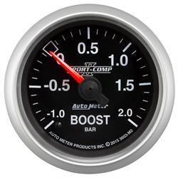 Auto Meter 3603-M2 Sport-Comp II Boost/Vacuum Gauge, 2-1/16, -1-+2 BAR,