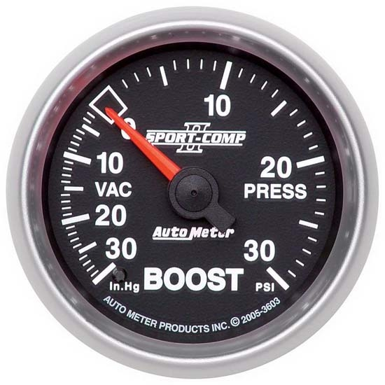 Auto Meter 3603 Sport-Comp II Mechanical Boost/Vacuum Gauge