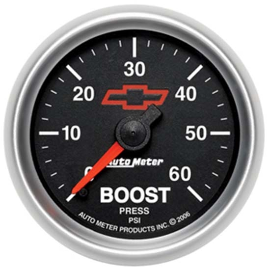 Auto Meter 3605-00406 GM Black Mechanical Boost Gauge, 2-1/16 Inch
