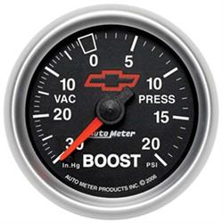 Auto Meter 3607-00406 GM Black Mechanical Boost/Vacuum Gauge