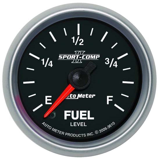 AutoMeter 3610 Sport-Comp II Digi. StepperMotor Fuel Level Gauge