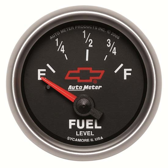 Auto Meter 3613-00406 GM Black Air-Core Fuel Level Gauge, 2-1/16 Inch