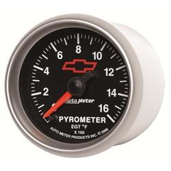 Auto Meter 3644-00406 GM Black Digital Stepper Motor Pyrometer Gauge