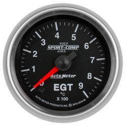 Auto Meter 3644-M Sport-Comp II Boost/Pyro Gauge, 2-1/16, 0-900 Deg., Flat