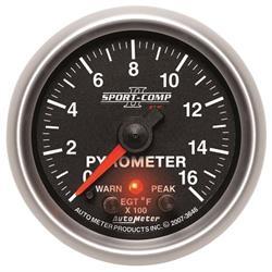 Auto Meter 3646 Sport-Comp II Digital Stepper Motor Pyrometer Gauge