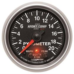 Auto Meter 3647 Sport-Comp II Digital Stepper Motor Pyrometer Gauge