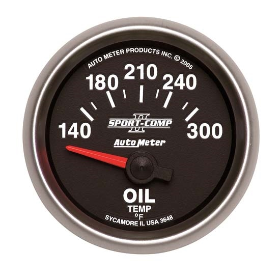 Auto Meter 3648 Sport-Comp II Air-Core Oil Temperature Gauge