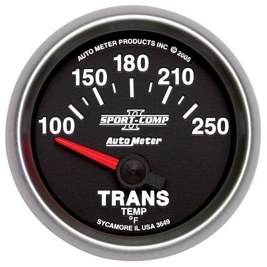 Auto Meter 3649 Sport-Comp II Air-Core Transmission Temperature Gauge