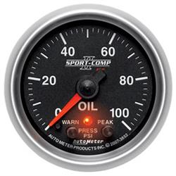 AutoMeter 3652 SportComp II Digital Stepper Motor Oil Pres. Gauge