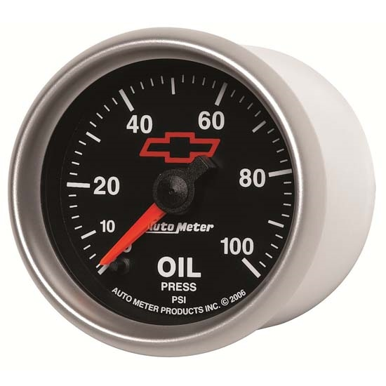 Auto Meter 3653-00406 GM Blk Digital Stepper Motor Oil Pressure Gauge