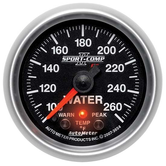 AutoMeter 3654 Sport-Comp II Digital Stepper Water Temp Gauge