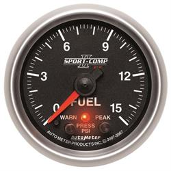AutoMeter 3667 Sport-Comp II Digi. StepperMotor Fuel Press Gauge
