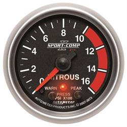 Auto Meter 3673 Sport-Comp II Stepper Motor Nitrous Pressure Gauge