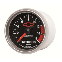 Auto Meter 3674-00406 GM Blk Digital Stepper Motor Nitrous Press Gauge