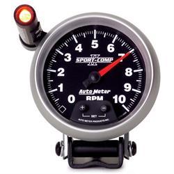 Auto Meter 3690 Sport-Comp II Air-Core Pedestal Tach, 10k RPM, 3-3/4