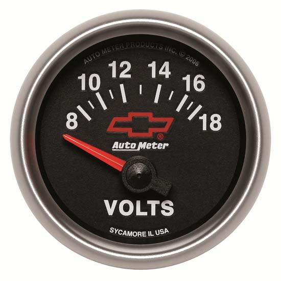 Auto Meter 3692-00406 GM Black Air-Core Voltmeter Gauge, 2-1/16 Inch