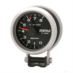 AutoMeter 3780 Sport-Comp Air-Core Pedestal Tach, 8k RPM, 3-3/4