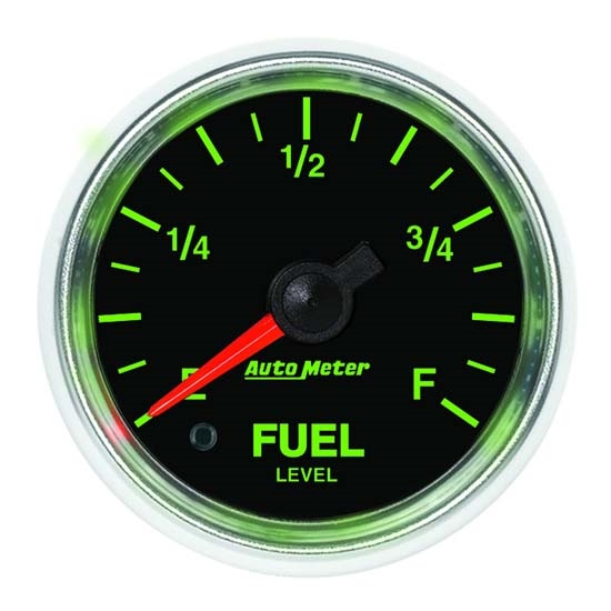 Auto Meter 3810 GS Digital Stepper Motor Fuel Level Gauge, 2-1/16 Inch