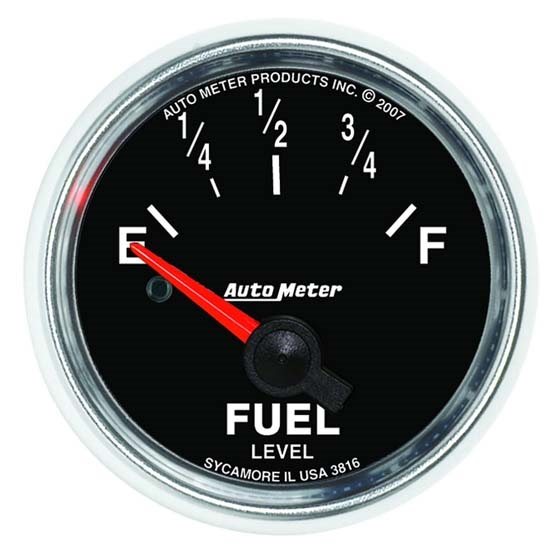 Auto Meter 3816 GS Air-Core Fuel Level Gauge, 2-1/16 Inch