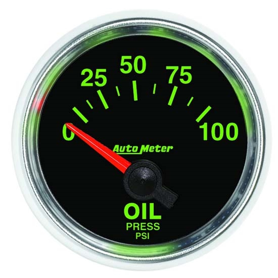 Auto Meter 3827 GS Air-Core Oil Pressure Gauge, 2-1/16 Inch