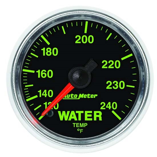 Auto Meter 3832 GS Mechanical Water Temperature Gauge, 2-1/16 Inch
