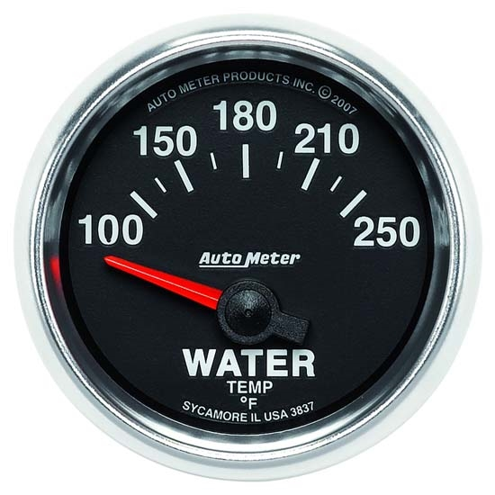 Auto Meter 3837 GS Air-Core Water Temperature Gauge, 2-1/16 Inch