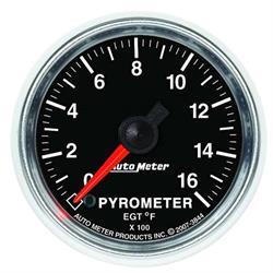 Auto Meter 3844 GS Digital Stepper Motor Pyrometer Gauge, 2-1/16 Inch