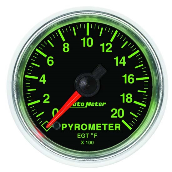 Auto Meter 3845 GS Digital Stepper Motor Pyrometer Gauge, 2-1/16 Inch