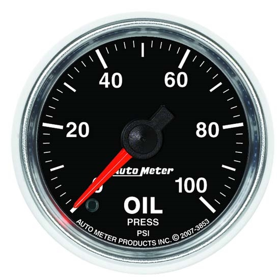 Auto Meter 3853 GS Digital Stepper Motor Oil Pressure Gauge