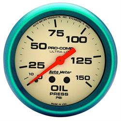 Auto Meter 4223 Ultra-Nite Mechanical Oil Pressure Gauge, 2-5/8 Inch