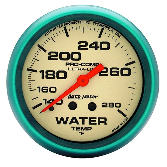Auto Meter 4235 Ultra-Nite Mechanical Water Temperature Gauge
