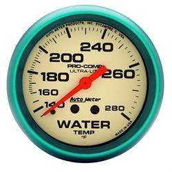 Auto Meter 4235 Ultra-Nite Mechanical Water Temperature Gauge
