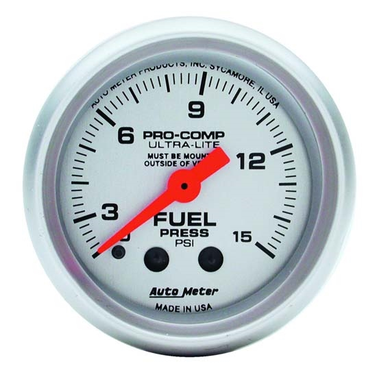 Auto Meter 4313 Ultra-Lite Mechanical Fuel Pressure w/ Isolator Gauge