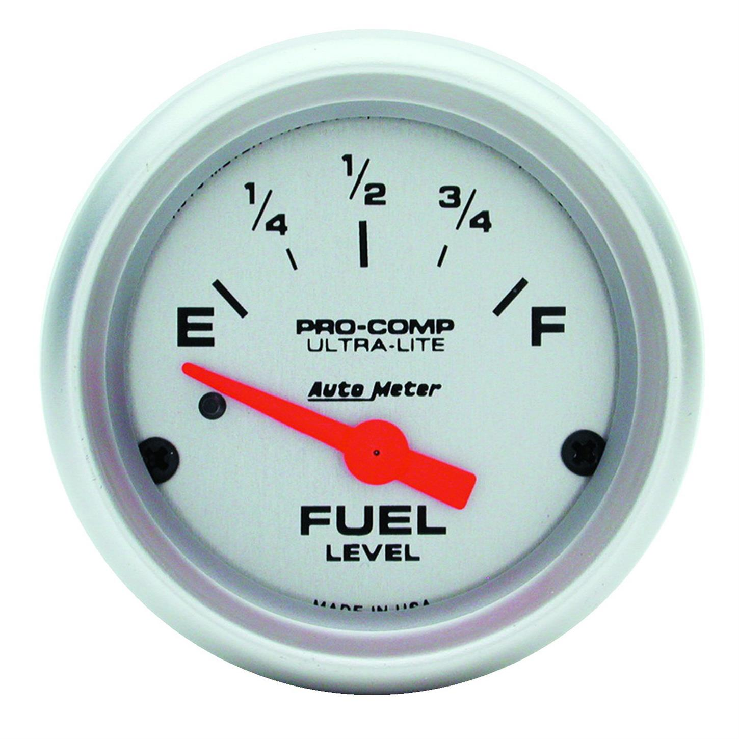 Auto Meter 4314 Ultra-Lite Air-Core Fuel Level Gauge, 2-1/16 Inch