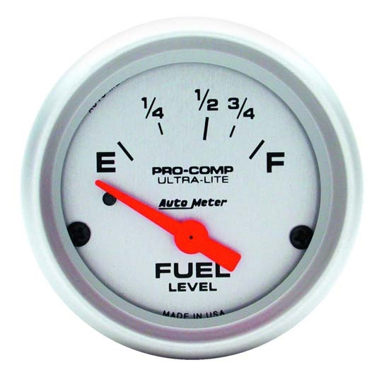 Auto Meter 4315 Ultra-Lite Air-Core Fuel Level Gauge, 2-1/16 Inch