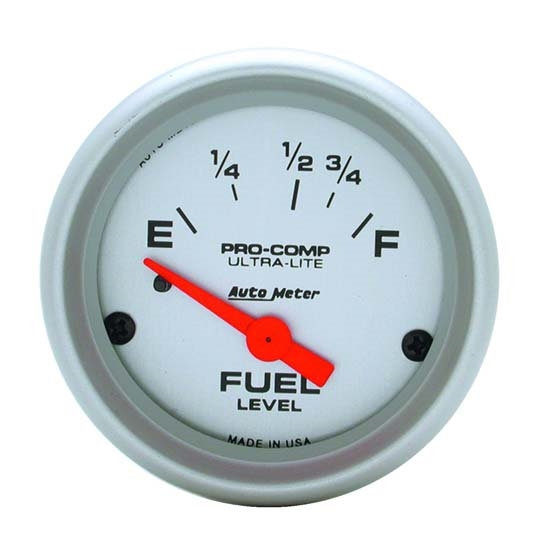 Auto Meter 4318 Ultra-Lite Air-Core Fuel Level Gauge, 2-1/16 Inch