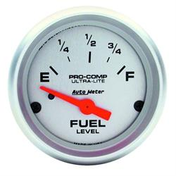 AutoMeter 4319 Ultra-Lite Air-Core Fuel Level Gauge, 2-1/16 Inch