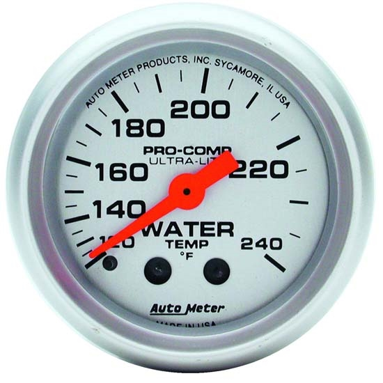 AutoMeter 4332 Ultra-Lite Mechanical Water Temperature Gauge