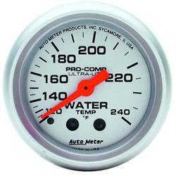 Auto Meter 4332 Ultra-Lite Mechanical Water Temperature Gauge