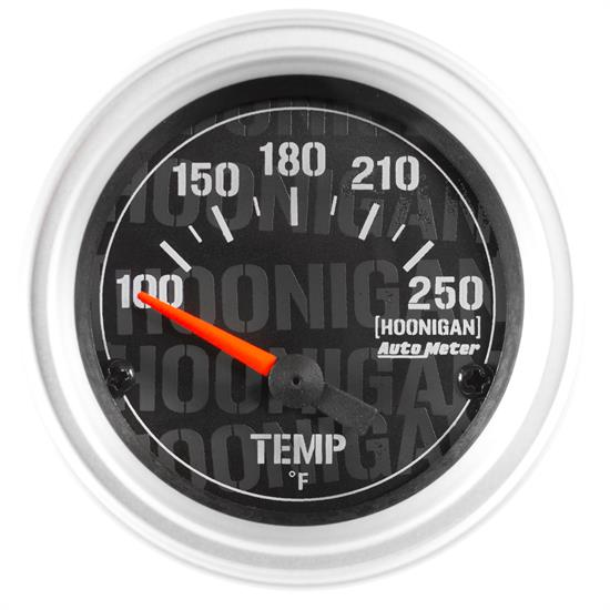 Auto Meter 4337-09000 Hoonigan Water Temp Gauge, 2-1/16, 100-250 Deg.