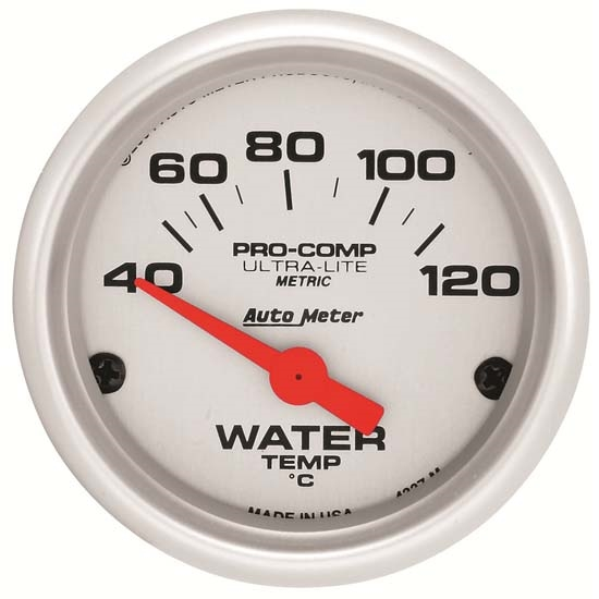 Auto Meter 4337-M Ultra-Lite Air-Core Water Temperature Gauge, 2-1/16