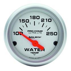 Auto Meter 4337 Ultra-Lite Air-Core Water Temperature Gauge, 2-1/16 In
